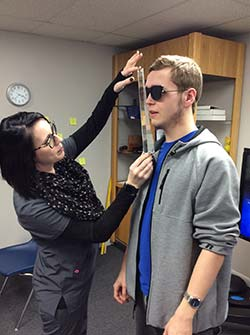boy participating in vision therapy program