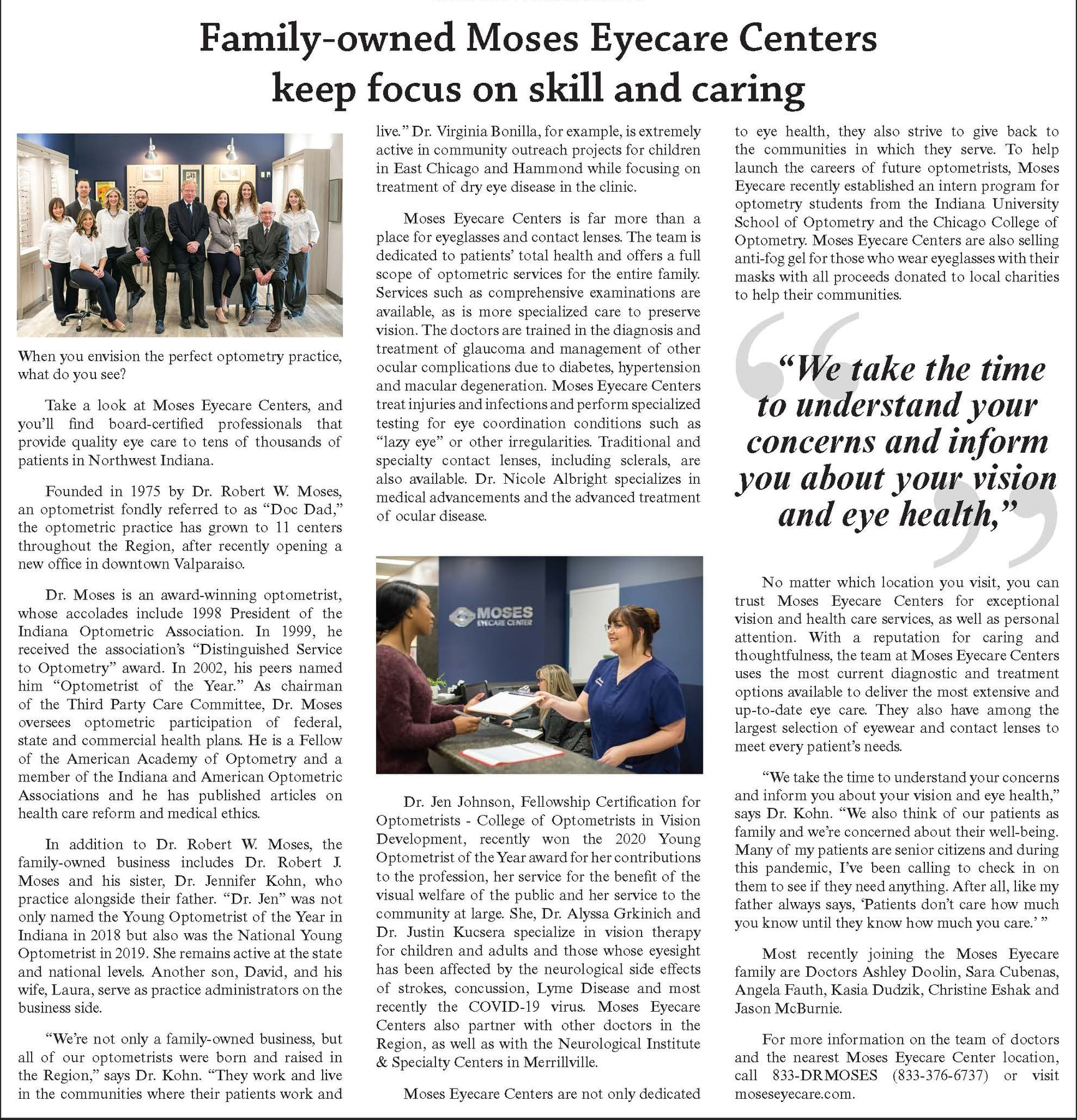Family-owned Moses Eyecare Centers keep focus on skill and caring